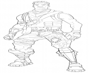 Coloriage Dire Wolf skin from Fortnite season 6 dessin