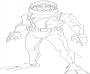 Coloriage chomp sr fortnite skin hd