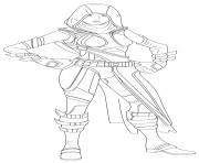 Coloriage fortnite fate skin hd