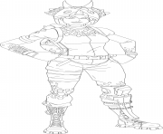 Coloriage tricera ops fortnite skin hd