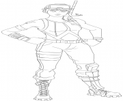 Coloriage snorkel ops fortnite skin hd