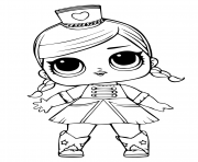 Coloriage lol doll majorette