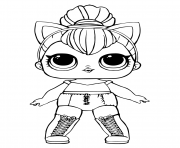 Coloriage lol doll kitty queen