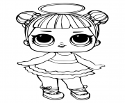 Coloriage poupee lol surprise spice doll dessin