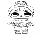 Coloriage lol doll miss baby glitter