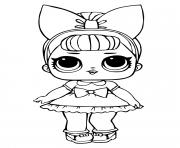 Coloriage lol doll majorette dessin