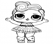 Coloriage LOL Surprise Doll Glitter Cosmic Queen dessin