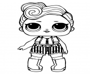 Coloriage lol doll funky qt