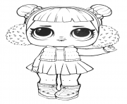 Coloriage lol surprise doll snow angel