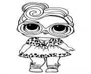 Coloriage lol doll dollface