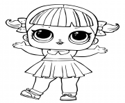 Coloriage lol doll line dancer