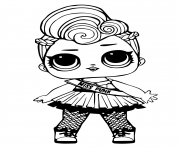 Coloriage lol doll miss punk