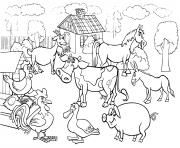les animaux de la ferme pour enfants dessin à colorier