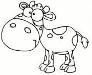 vache animaux de la ferme rigolo dessin à colorier