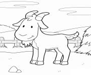 Coloriage chevre animal ferme