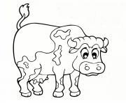 animaux de la ferme vache dessin à colorier