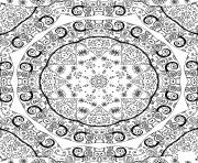 doodle mandala complexe dessin à colorier