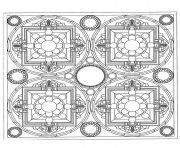 Coloriage mandala difficile 2 dessin