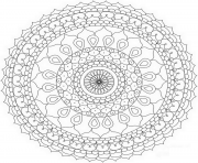 Coloriage abstract mandala par Dora Alis