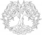 mandala arbre de la vie par Artsashina dessin à colorier
