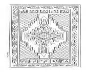mandala tapis turc Joeke Remkus de Vries dessin à colorier