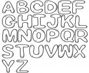 Coloriage bubble letters alphabet az