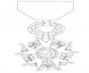 ordre national de la legion dhonneur dessin à colorier