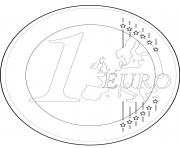 Coloriage monnaie france 1 euro