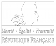 logo du gouvernement francais dessin à colorier
