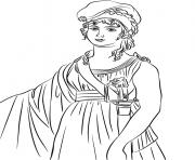 marianne avec bonnet phrygien dessin à colorier
