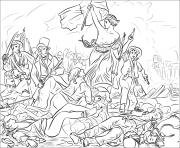 La Liberte guidant le peuple dessin à colorier