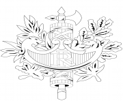 Coloriage embleme officieux de la republique francaise