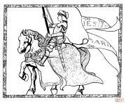 jeanne darc france dessin à colorier