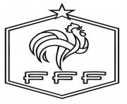Coloriage federation francaise de foot FFF