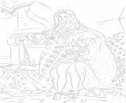 louis xiv france histoire dessin à colorier