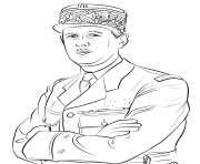 Coloriage charles de gaulle
