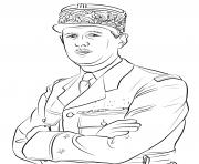charles de gaulle dessin à colorier