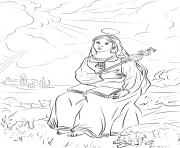 sainte genevieve de paris dessin à colorier
