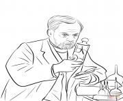 louis pasteur dessin à colorier