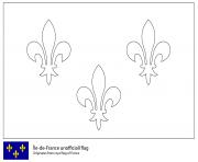 drapeau de lile de france dessin à colorier