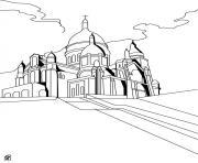 le sacre coeur france monument dessin à colorier