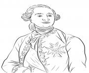 Roi de France Louis XVI histoire dessin à colorier