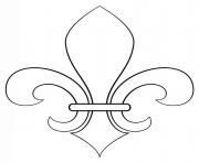 fleur de lis france dessin à colorier