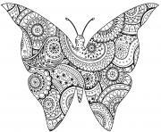 insecte papillon avec zentangle paisley motifs par art isabelle dessin à colorier