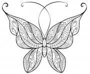 papillon adulte jolis motifs 14 dessin à colorier
