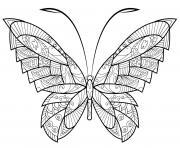 papillon zentangle jolis motifs 17 dessin à colorier