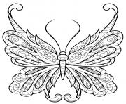 Coloriage papillon zentangle jolis motifs 18