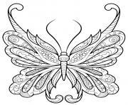 papillon zentangle jolis motifs 18 dessin à colorier