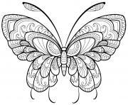 papillon adulte jolis motifs 11 dessin à colorier