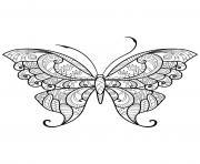 papillon adulte jolis motifs 12 dessin à colorier
